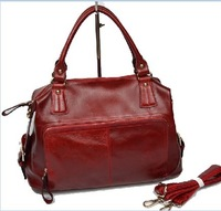 2013 women's genuine leather handbag wax cowhide handbag women's messenger bag female casual big bag