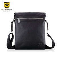 William 2013 genuine leather shoulder bag fashion first layer of cowhide messenger bag casual bag man bag