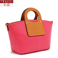 Fashion fashion handbag cowhide women's bags 2013 dinner color block one shoulder cross-body bag the trend