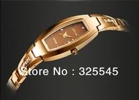 Genuine Ladies Watch Korean version of the diamond bracelet watch Barrel-type waterproof watch free shipping