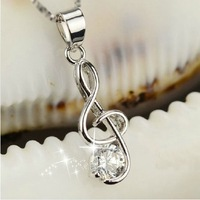 Aliexpress of the Fashion charming notesof the music necklace for female  and girl