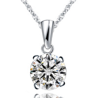 Aliexpress of the Hearts and arrows sparkling cubic zircon necklace gift quality accessories