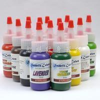 Quality pigment 14 set 30 bottle tattoo pigment tattoo machine pedal