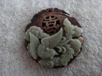 Natural purple jade auspicious phoenix pendant in 2013 female medallion pendant
