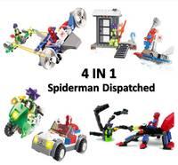 Kazi Building Blocks,Spiderman 87001-4, 4 items/set, Self-locking Bricks, Toys for Children