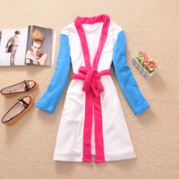 2013 women's autumn and winter coral fleece chromophous sexy bathrobe plus size
