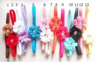 New Crystal flowers Beauty Kid Baby Girl Headband Hairband Clip Headwear 13pcs