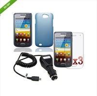 B233 5IN1 Hard Rubber Case+Charger+Film For Samsung Galaxy W i8150 Exhibit II 2