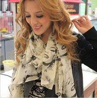 10pcs/lot 2013 new Bright color Beauty Marilyn Monroe Chiffon scarf Free shipping