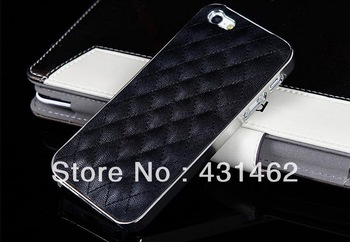Hot new Lambskin case For Iphone 5 cell phone Fashion luxury Design Back Designer Cover and leather Phone Case for Iphone5