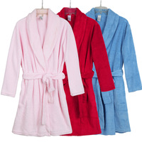 2013 hot-selling Coral fleece robe solid color advanced women's coral fleece bathrobe sleepwear bathrobe  foreign trade goods