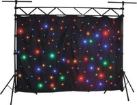 New style led curtain blue and white cloth light