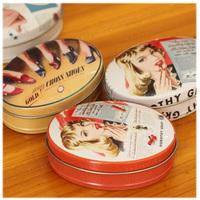 24pcs Vintage style Oval Storage Tin Case, Oval Jewelry Storage Box, Lovely Small Kit Sundries Box, Candy Box,