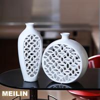 Modern home decoration fashion decoration ceramic cutout fashion twinset brief white