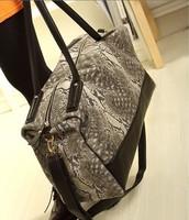 Woman Bags Fashion 2014 Designers Snake Skin Women Luggage Travel Bags Waterproof Large Traveling Duffle Sport Bag Gym Totes