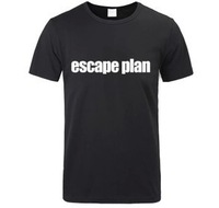 100% Cotton Free shipping Cool Band escape plan Custom short sleeve DIY T-shirt  New Design Print Shirts