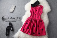 Lovable Secret - Autumn fashion small women's rabbit fur woolen slim one-piece dress  free shipping