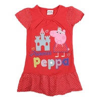 one piece sell peppa pig girls clothing peppa pig clothes new dress embroidery peppa pig dresses new fashion 2013 JL88