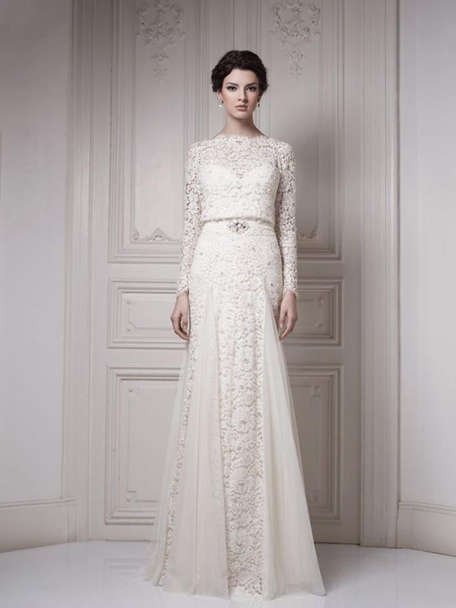 High Quality Vintage Lace Mermaid Floor Length Zuhair Murad Wedding Dresses