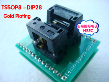 Free Shipping Original  SSOP8 TSSOP8 TURN DIP28  IC Test Socket Programmer adapter  0.65mm Pitch