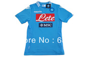 New arrival 13/14 best quality SSC NAPOLI home blue soccer football jersey! Naples home soccer jersey, size:S-XL