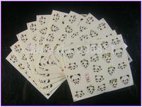 50 PCS / LOT Free Shipping Nail Art Water Transfers Stickers Nail Decals Stickers Water Decal Panda Bearcat