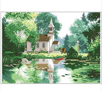 Counted Cross Stitch  Best Quality---Luxurious---Seaside Villiage--Hot Sell Free shipping