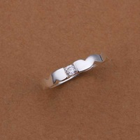 Hot Sell!Wholesale Sterling 925 silver ring,925 silver fashion jewelry ring,Sided Smooth inlaid stone Rings SMTR241