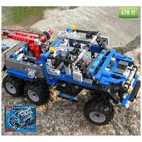 Holiday Sales Enlighten Child DIY truck,678 pcs assemble Building blocks Educational toys Children's toys