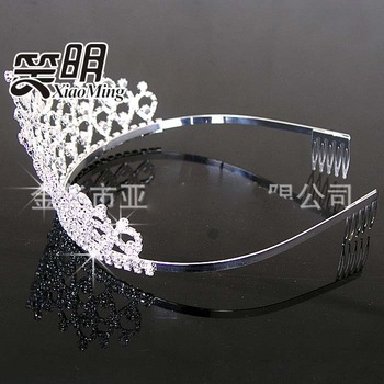 Wholesale Luxury crystal crown bridal hair hoop bridal jewelry