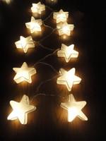 35 White Stars LANTERN Paper Handmade Fairy String Lights