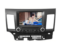 Mitsubishi Lancer Car DVD Player GPS Navigation Touch Screen Bluetooth TV USB SD iPod RDS AUX support steering wheel