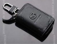 carve patterns Leather car key case For Mazda M2 M3 M5 M6 RX-7 RX-8 CX-7 MX-5 CX-5