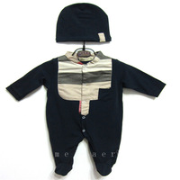 Baby  Long sleeve romper with hat suits  infants  Spring Autumn  jumpsuits