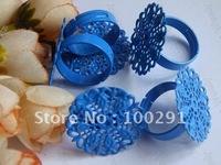 100piece 25mm Blue Ring blanks ring base ring settings