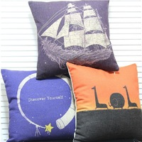 Dreamy Creative Combination Linen Cotton 45*45cm 3pcs/lot Cushion Cover Home Decorate Sofa Office Car Pillow Case Wholesale