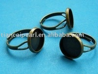 adjustable 19mm ring base blank with 12mm pad antique brass bronze Jewelry Findings Accessories Fittings Components