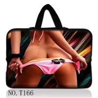 "Free Shipping 13"" Sexy Girl Laptop Neoprene Sleeve Bag Case + Hide Handle For 13.3"" Apple/HP/Dell,Acer /Lenovo IdeaPad Yoga 13"