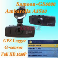 "Original full hd car vehicle  recorder GS6000 Ambarella A5S30 Aptina 0330 GPS Logger+G-Sensor 2.7"" LCD 1080P 30FPS Built-in 256M"