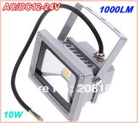 Free Shipping 20pcs/lot LED Flood Lights 10W AC/DC 12V floodlight IP65 1000lm Warm White / Cold White Led Floodlight FL-100