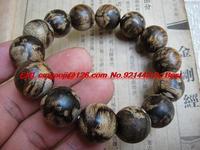 Hainan chess bracelets Baiqi Nan Nan aloes aloes beads bracelet large opening penetrating the soft silk oily 16mm