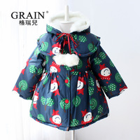 Irigaray clothing winter female child clip cotton-padded coat long design cloak overcoat cotton-padded jacket trench 9106