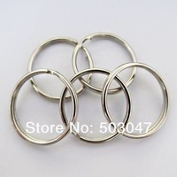 Free shipping Wholesale 30 Pcs/Lot 25 MM Metal Silvery Round Connection Rings Split Key Ring Key Chain Connector Parts