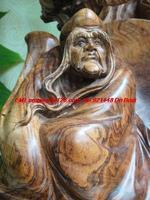 Hainan scented rosewood Arhat statues kindly man healthy longevity birthday ornaments handmade wood carving chinese folk