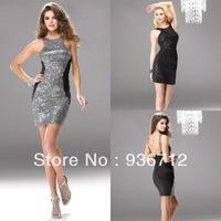 Коктейльное платье Popular Style Elegant Tulle Beaded Short Coral Prom Dress Cocktail Dresses