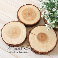 Reminisced zakka vintage solid wood natural tree stump timber heat insulation pad base