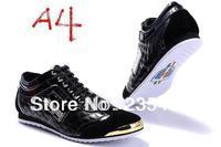 new style men's casual shoes wearproof  black color shoes Size:40-46