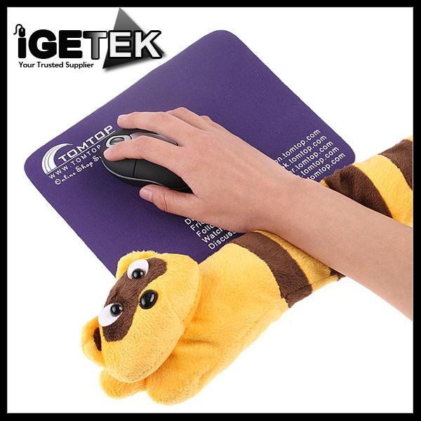 Cute Little Raccoon Elongated Shape Plush Laptop USB Hand Warmer Mat for Bracers Drop Shipping Wholesale(China (Mainland))