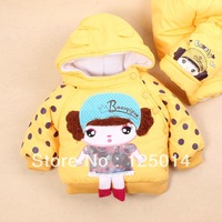 two-piece 2013 new winter fashion girls cute little beauty dot pattern cotton suit sets