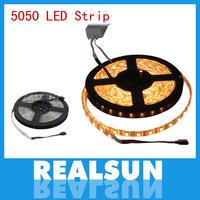 50m/lot Waterproof 5050 RGB Led Strip Light 60led/m 5M 300 LED SMD DC 12V with high quality